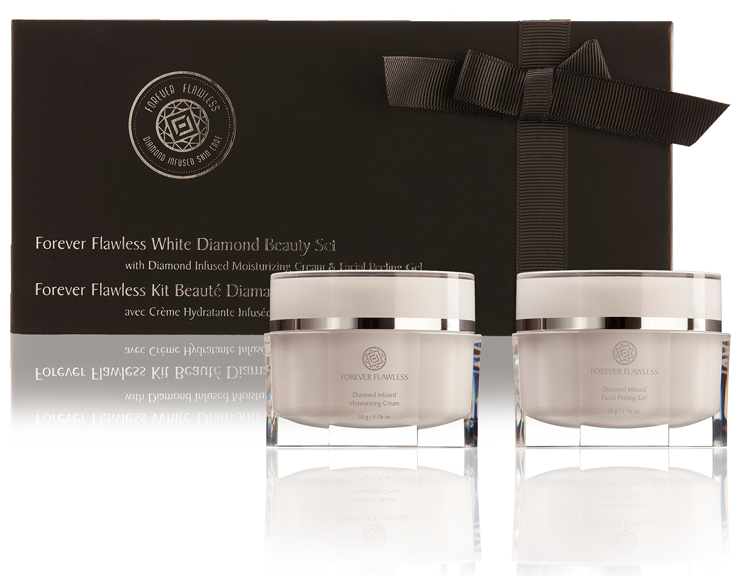 Forever Flawless Limited Edition White Diamond Beauty Set With Complete Two-Step Facial Peeling and Moisturizing Treatment