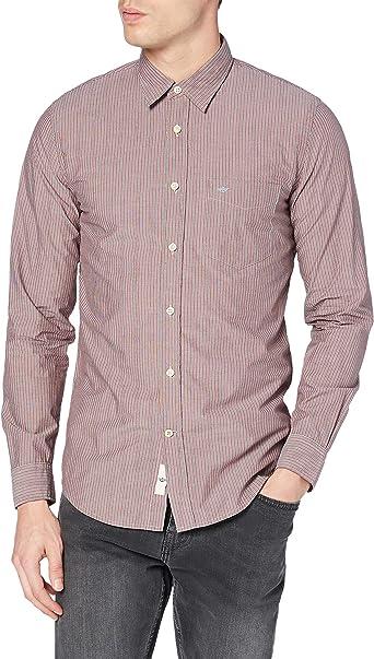 Dockers Laundered Poplin Shirt-LS Camisa para Hombre