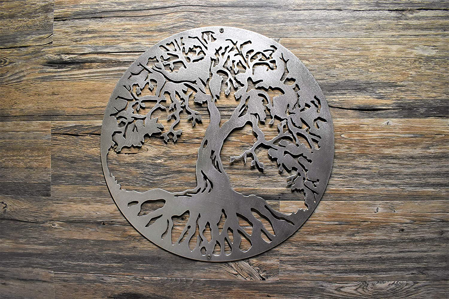 "18"" to 30"" Tree of Life Steel Home Decor polished wall hanging Made in U.S.A. wall art, Various Finishes, sizes"