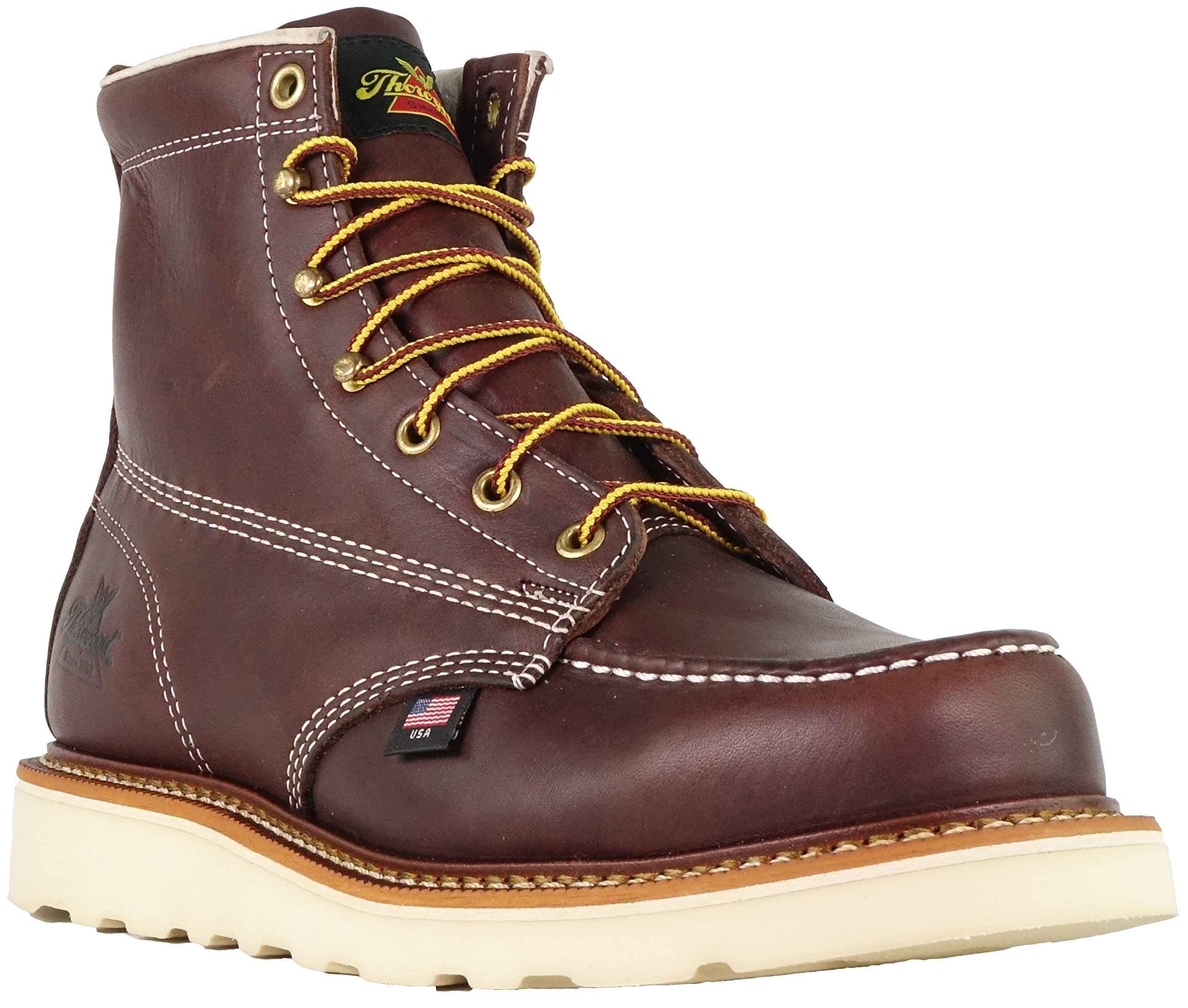 Thorogood 814-4216 Men's American Heritage 6'' Moc Toe Boot, Black Walnut - 12 2E US