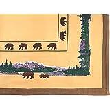 Amazon Com Vinyl Tablecloths Flannel Backed Moose Deer
