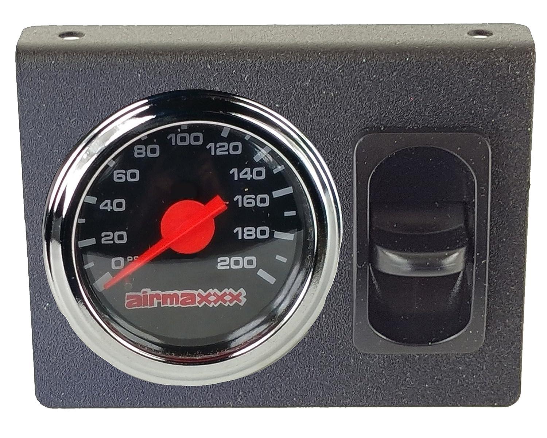 airmaxxx Single Needle Air Gauge Display Panel & 1 Paddle Switch