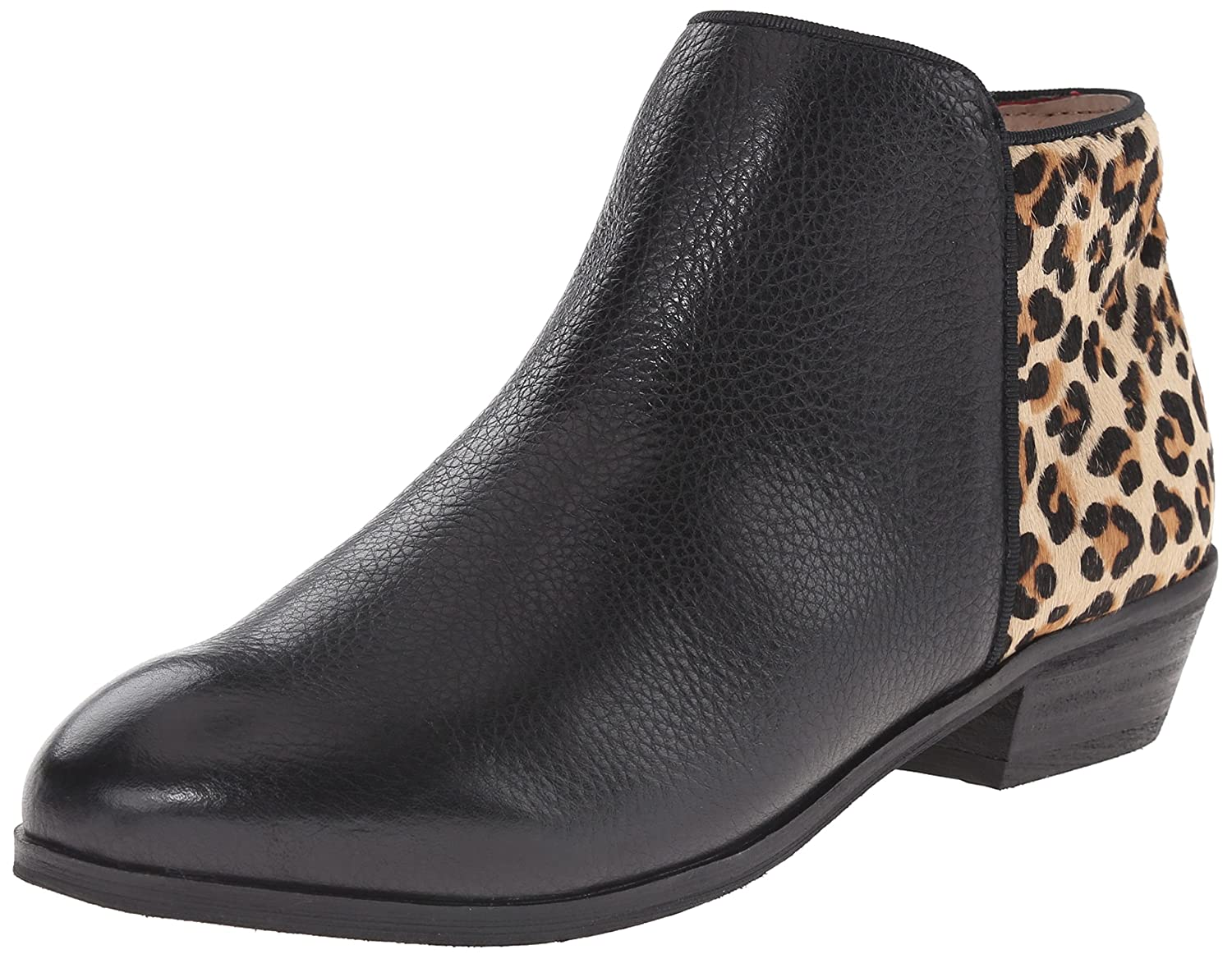SoftWalk Women's Rocklin Chelsea Boot B00S06SDG4 8.5 W US|Black/Leopard