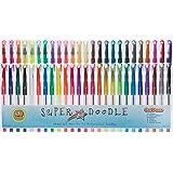 Super Doodle Gel Pens, 50 Pack (Brown Earth Tones, Glitter, Metallic, Neon, and Classic Colors)