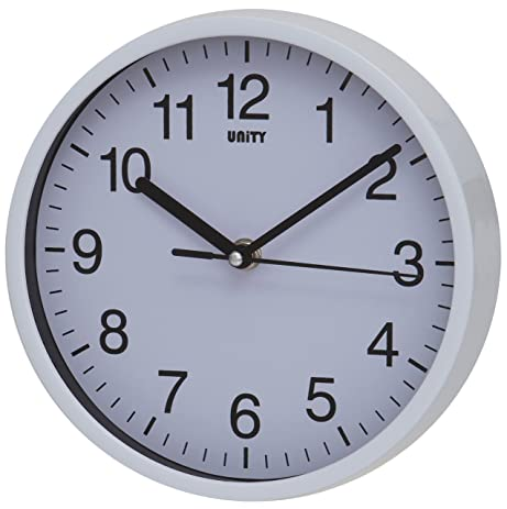 nice design quiet wall clock. Unity UNSW197 Radcliffe Sweeping Seconds Hand Quiet Wall Clock  White Amazon com