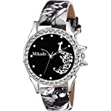 Mikado Stylish Sophia Black Analogue Watch For Girls And Women