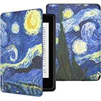 MoKo Kindle Paperwhite Case, Premium Thinnest Lightest PU Leather Cover with Auto Wake/Sleep Fit Kindle Paperwhite All Version Prior to 2018 (Not Fit All-New Paperwhite 10th Generation 2018), Starry Night