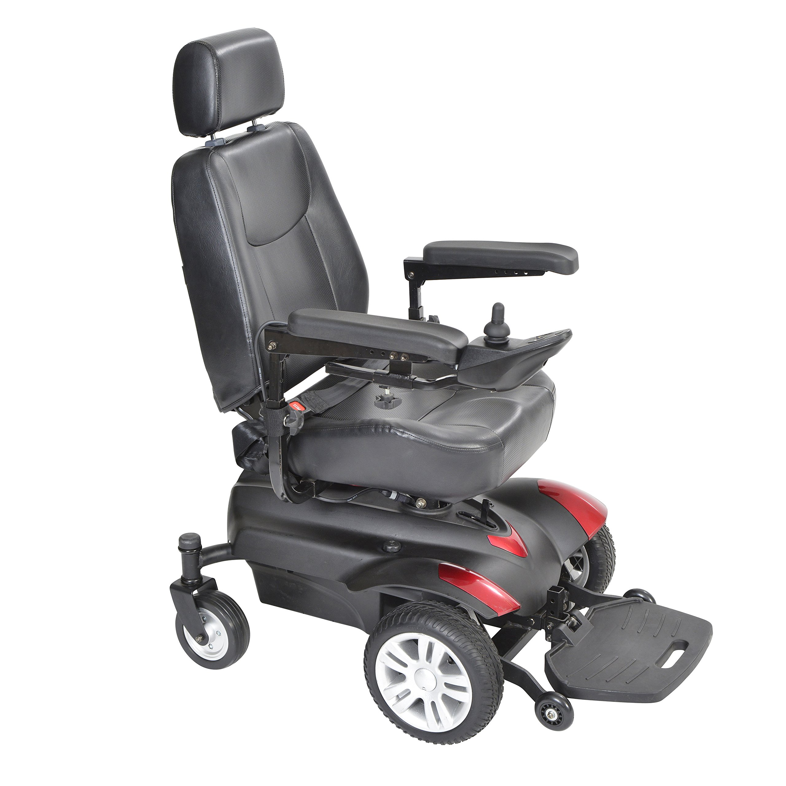 Drive Medical Model-TITAN22CS Titan Transportable Front Wheel Power Wheelchair, Full Back Captain's Seat, 22'' x 20'' & FREE OPC™ Wheelchair Medical Utility bag
