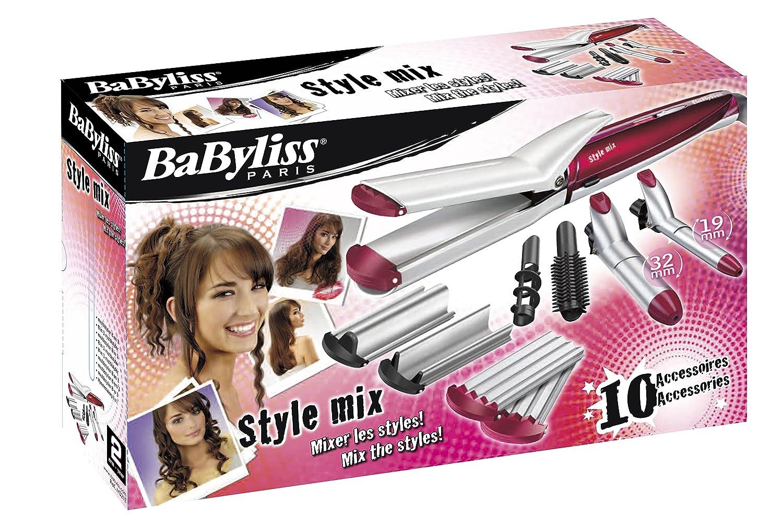 BaByliss Multistyler MS21E - Set moldeador de pelo 10 en 1 con tenacillas y planchas de pelo para alisar, ondular y crimpar: Amazon.es: Salud y cuidado ...