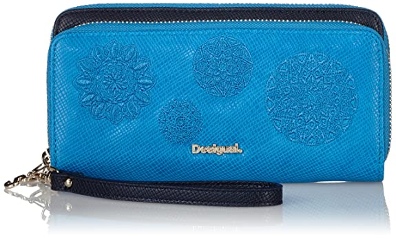 DesigualTWO Levels Juliet - Billetera Mujer, Color Azul, Talla 19x10x4 cm (B x H x T): Amazon.es: Zapatos y complementos