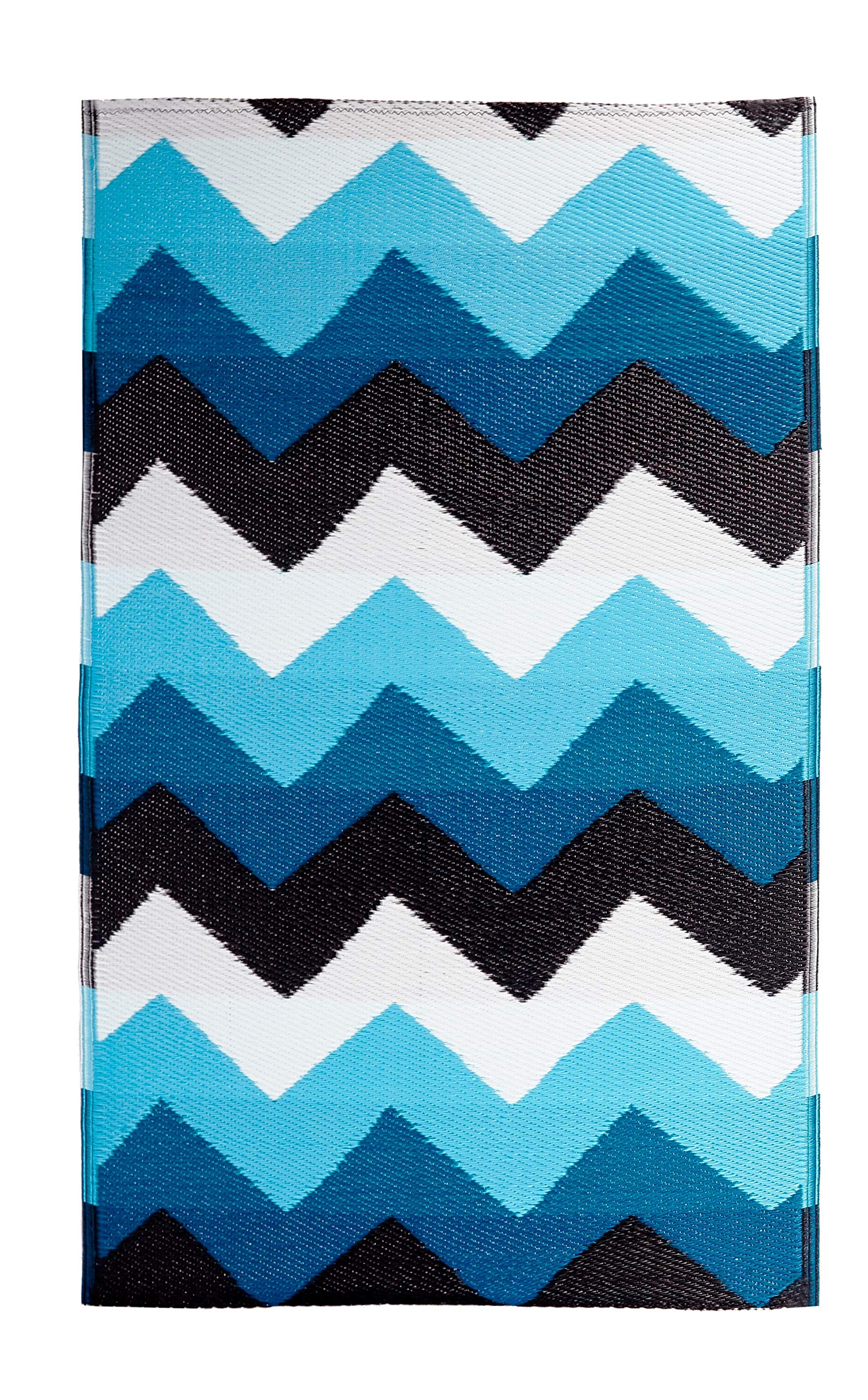 BEOMES, Indoor/Outdoor Rug, All Weather & UV Resistant (3 X 5, Stockholm-Blue)