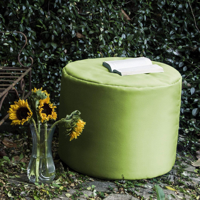 Lime Green Jaxx Spring Indoor//Outdoor Bean Bag Ottoman
