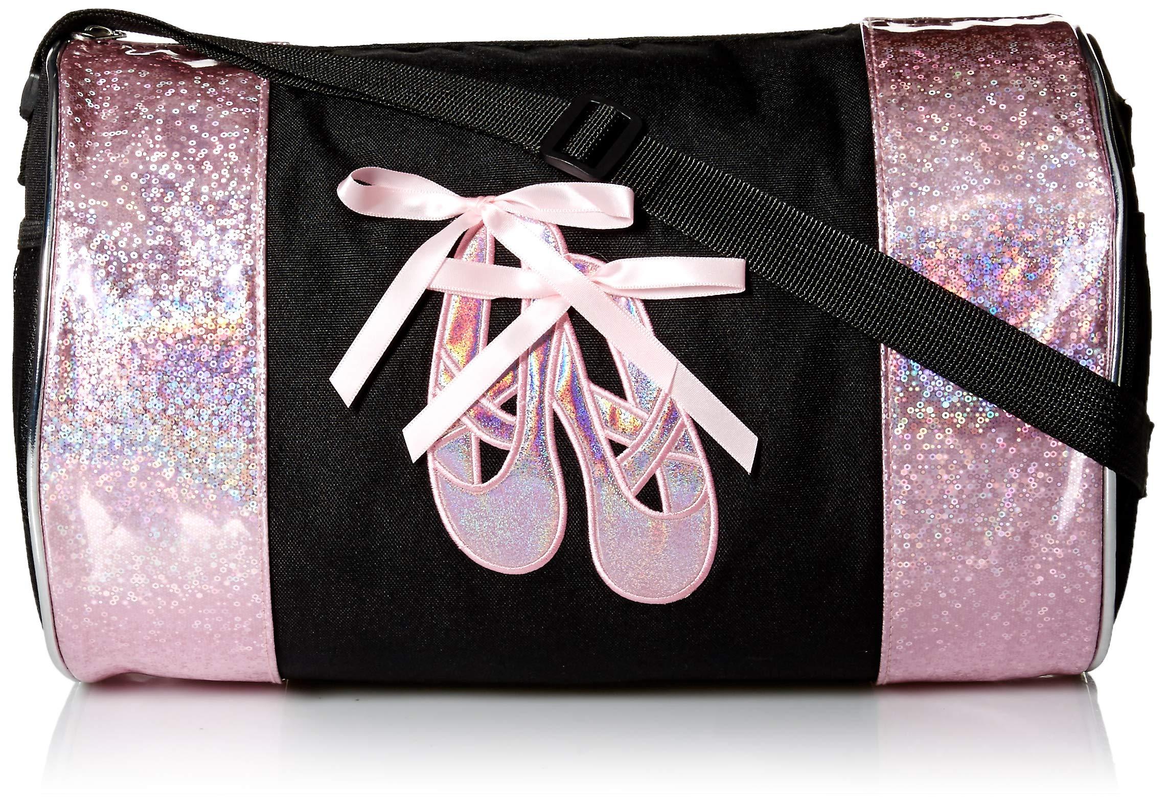 Dance Ballet Slippers Duffel Bag (Black/Pink) by Princess