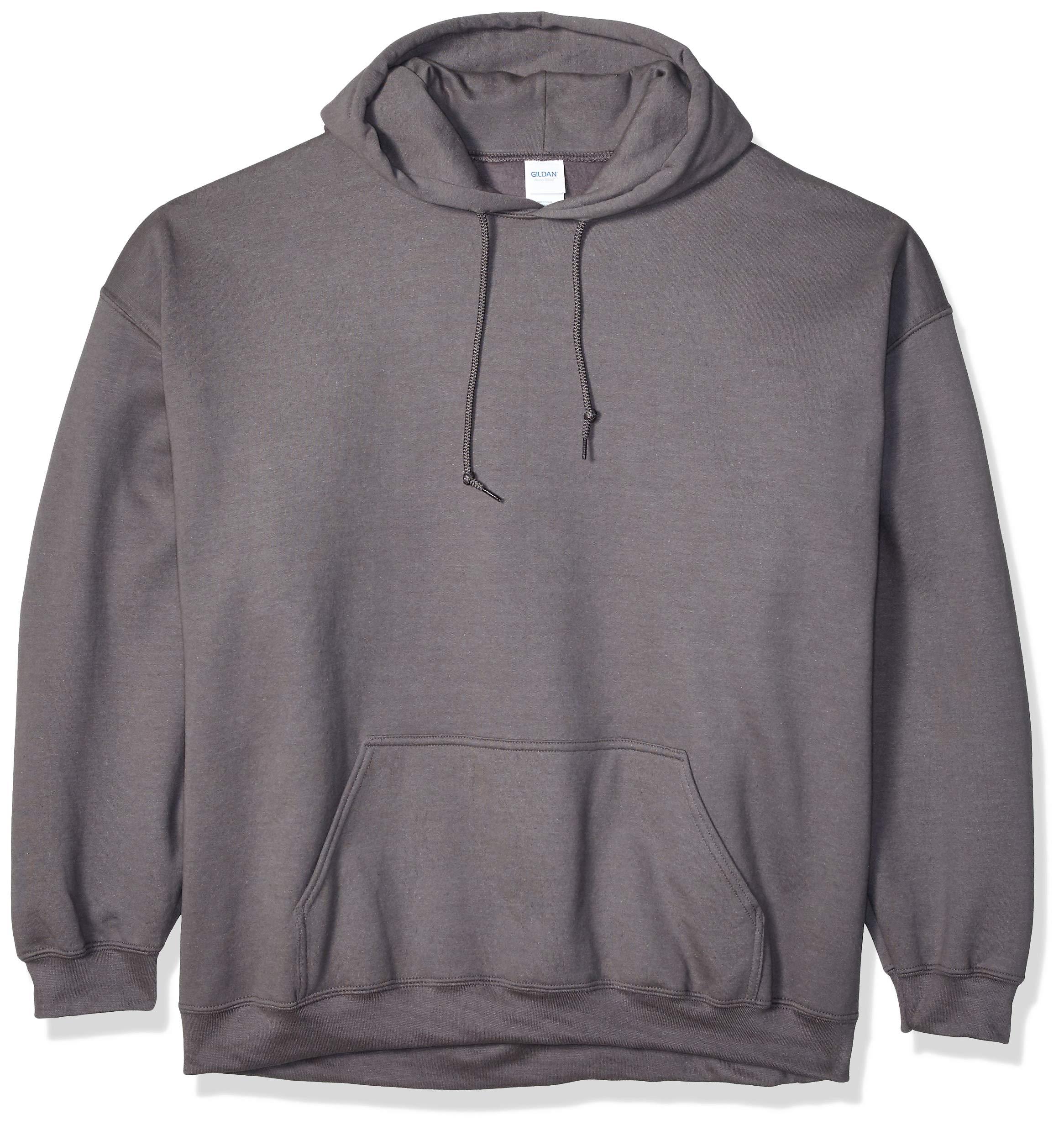 Gildan Men's Heavy Blend Fleece Hooded Sweatshirt G18500, Charcoal, Small