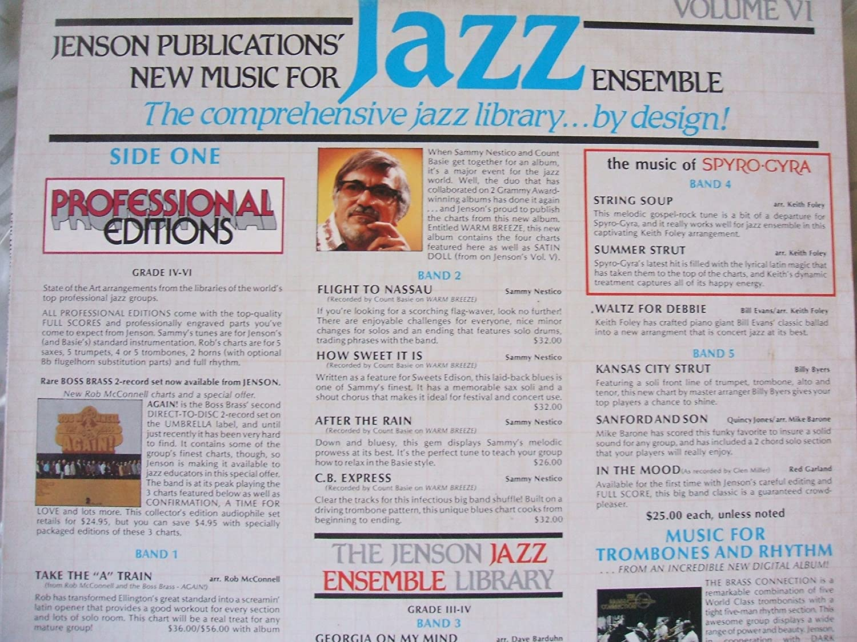 VARIOUS - JENSON PUBLICATIONS- NEW MUSIC FOR JAZZ ENSEMBLE VOLUME VI -  Amazon.com Music
