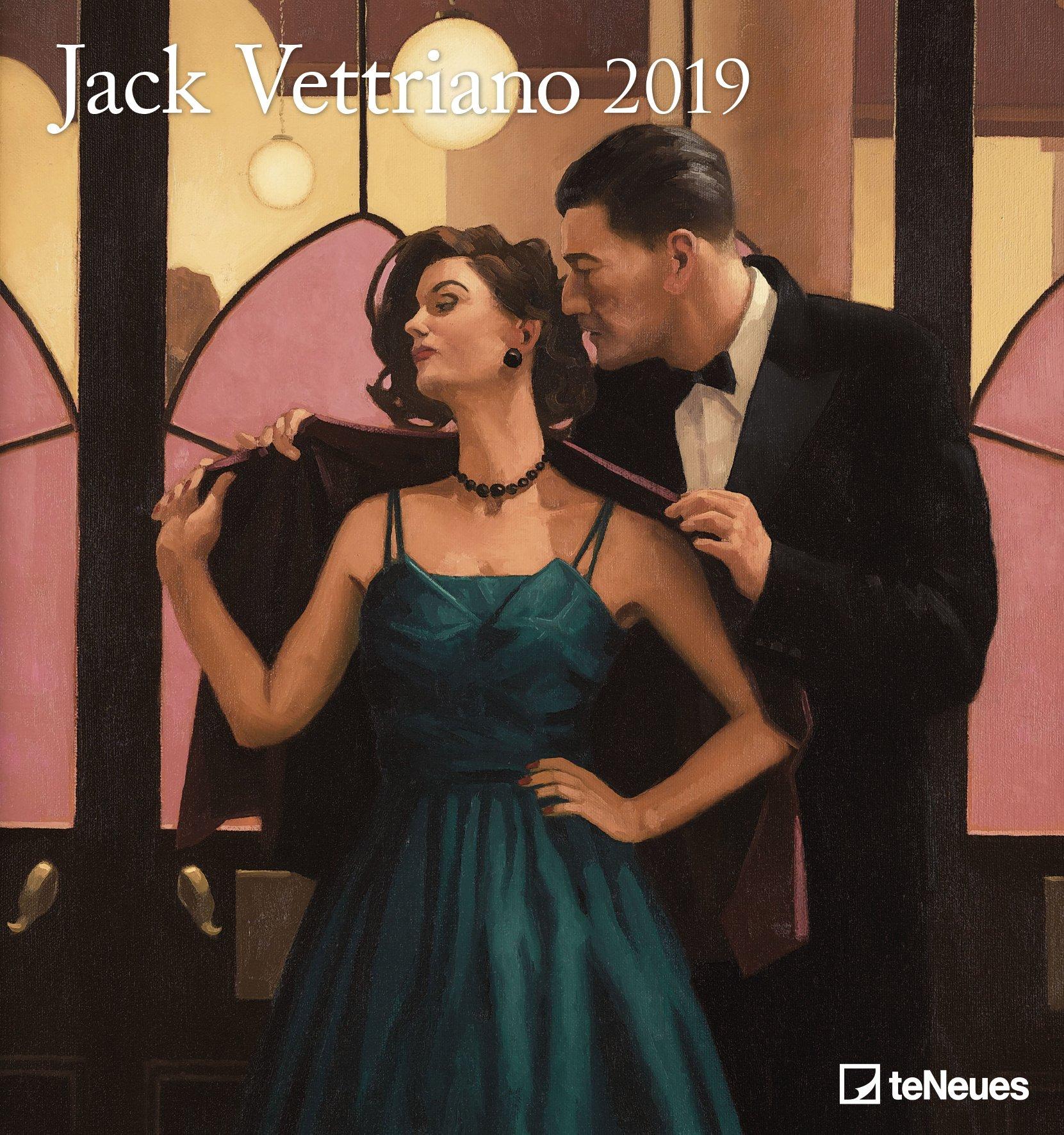 Jack Vettriano 2019 - Kunstkalender, Wandkalender, Spiralbindung - 45 x 48 cm Kalender – Posterkalender, 15. Juli 2018 Spiralbindung - 45 x 48 cm B077ZH8KCK Bildende Kunst Jack / Kalender