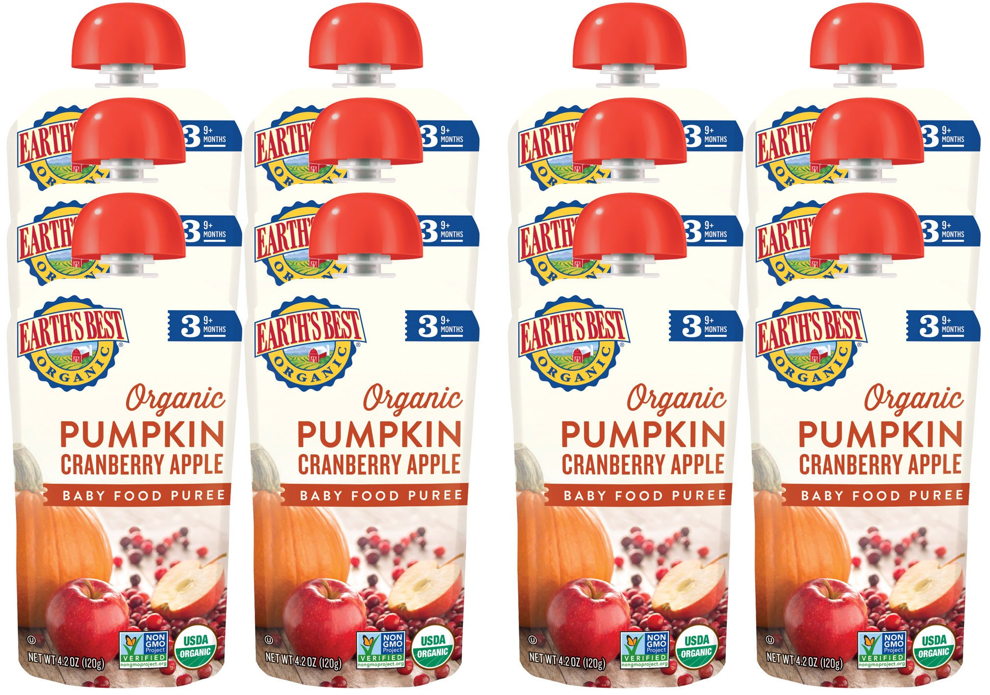 Earth's Best Organic Stage 3, Pumpkin, Cranberry & Apple, 4.2 Ounce Pouch (Pack of 12) (Packaging May Vary) by Earth's Best (Image #6)