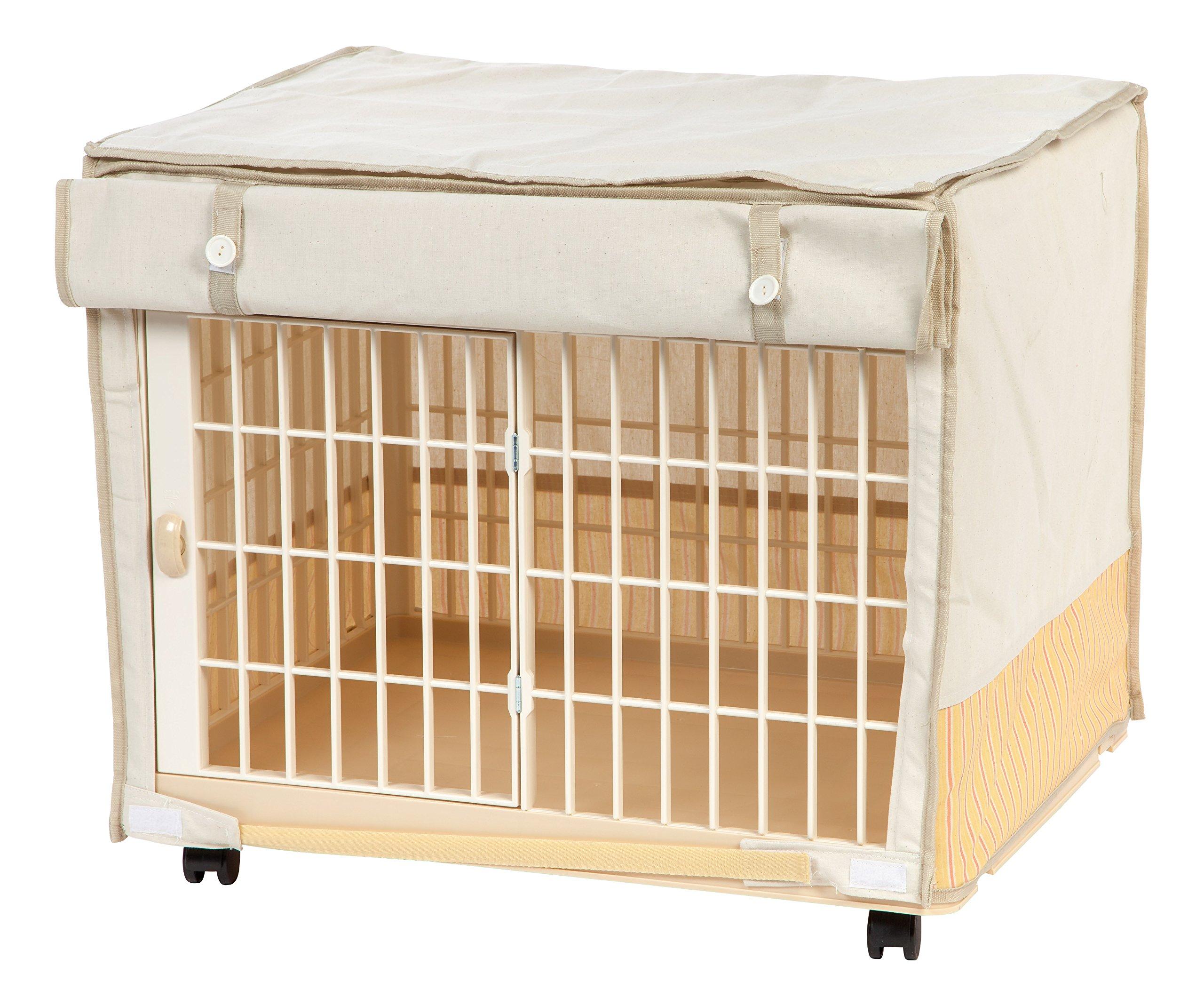IRIS USA, Inc. IRIS Covered Plastic Animal Cage, White, Extra Small