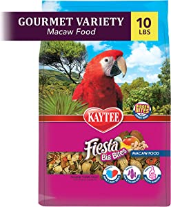 Kaytee Fiesta Big Bites Macaw Food, 10-Lb Bag