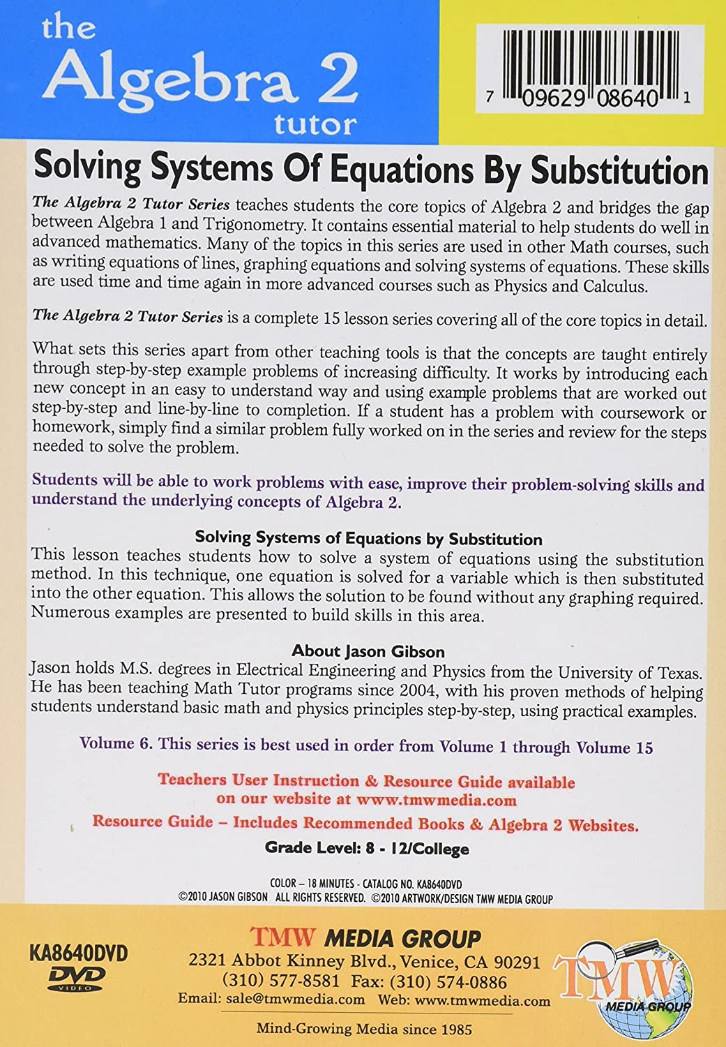 Amazon com: Solving Systems of Equations by Substitution
