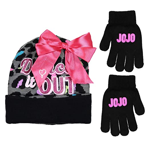 49d495ced27 Image Unavailable. Image not available for. Color  Nickelodeon JoJo Siwa  Dance It Out Winter Hat and Glove Set ...