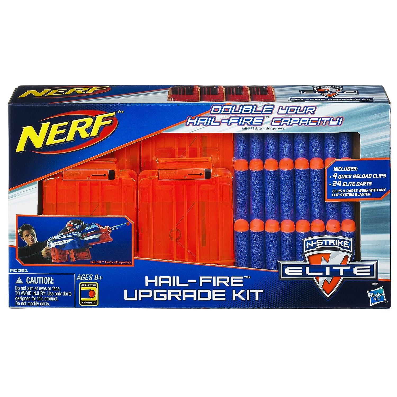 Nerf Gun N-Strike Elite Hail-Fire Motorized Blaster w/ 8 Clips-