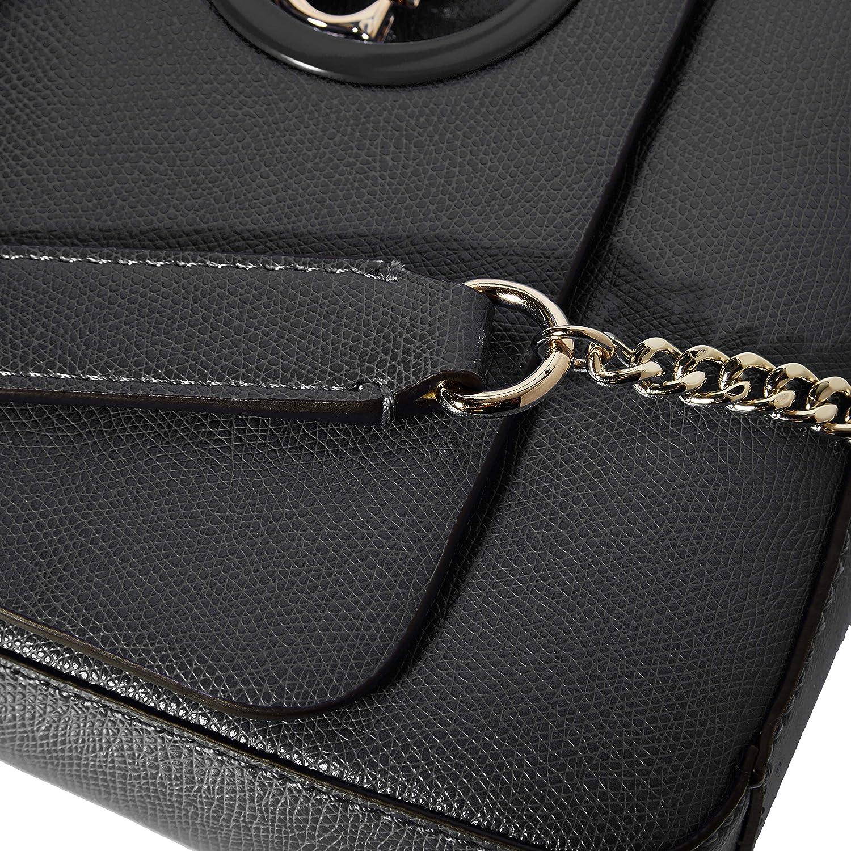 Guess Women's Open Road Cnvrtble Xbody Flap Messenger Bag Black