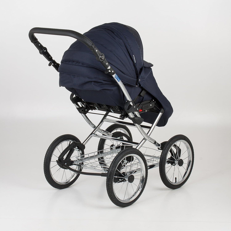 Cochecito para bebé 3 en 1. Silla + Capazo + Grupo 0. Mundi Bebé Katrina. Marco clásico cromado.: Amazon.es: Bebé