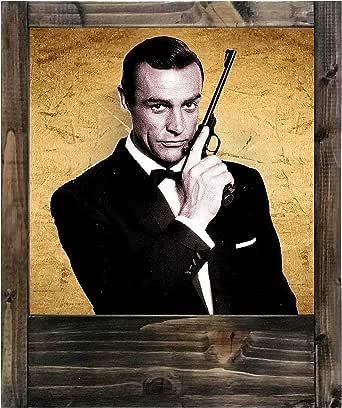 Lámpara de madera James Bond – Sean Connery: Amazon.es: Iluminación