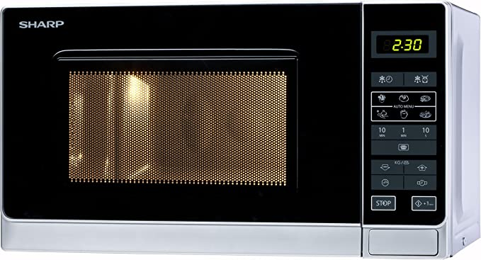 sharp r 242 in w microwave oven freestanding silver amazon rh amazon co uk