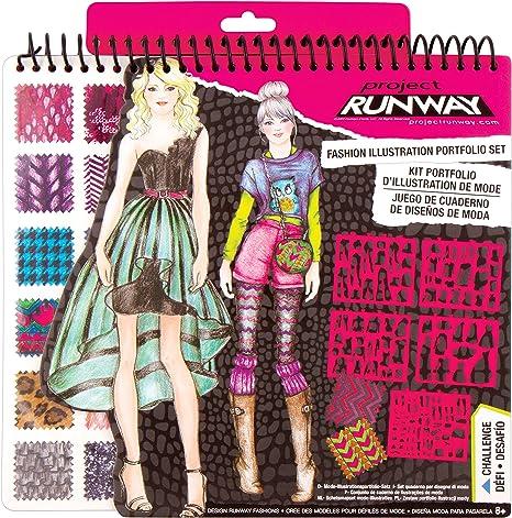 Fashion Angels Project Runway Fashion Design Sketch Portfolio Makeup Amazon Canada