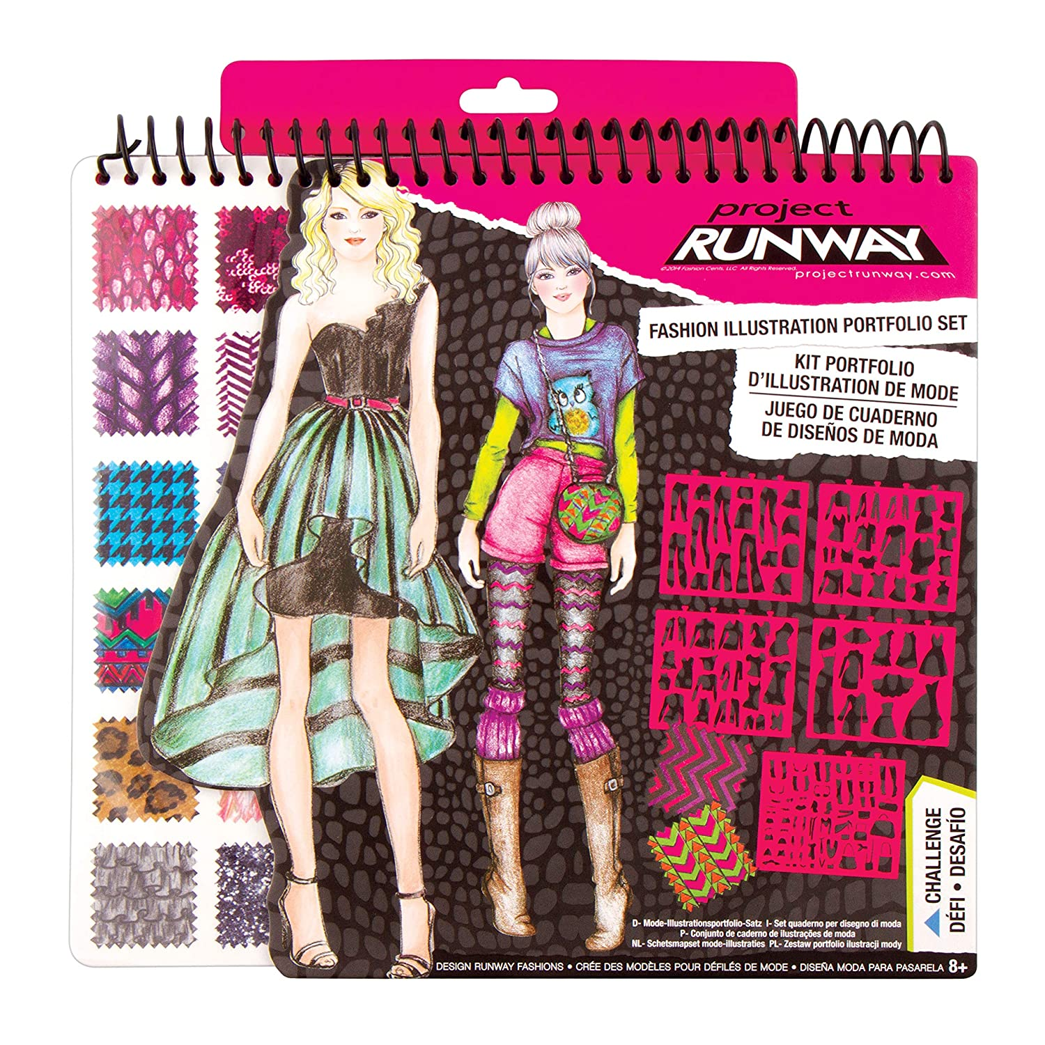 Buy Fashion Angels Project Runway Fashion Design Sketch Portfolio Online At Low Prices In India Amazon In