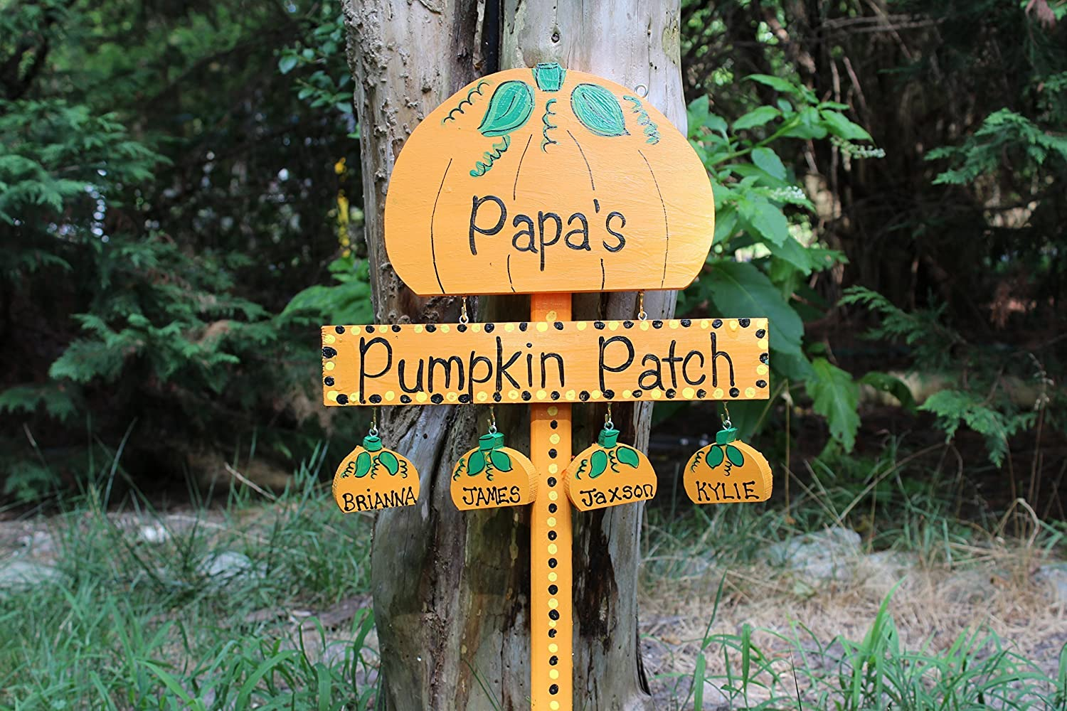 B016FA4310 Pumpkin patch yard stake, pumpkin patch sign, pumpkin yard stake 91A1-Eh-y6L