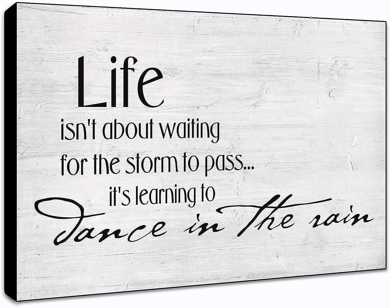"LACOFFIO Learning to Dance in The Rain Wall Art Décor Plaque 9""x 6"" Housewarming Gift Idea"