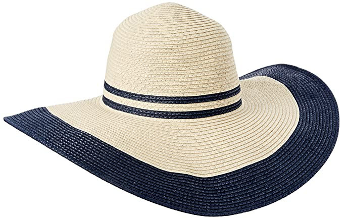 8dacc035 Joules Women's Mandy Wide Brimmed Sun Hat, French Navy One Size at ...