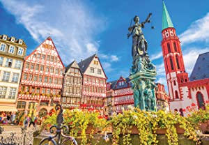 1000 Piece Large Jigsaw Puzzle - Frankfurt, Germany - Puzzles for Adults and Teens - 29 x 20 Inches