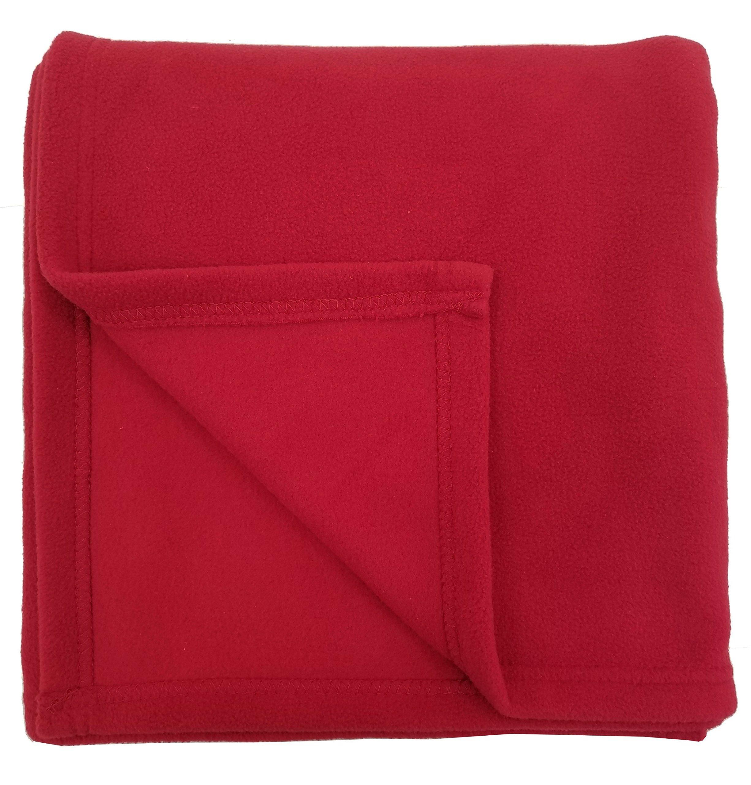 Rollee Pollee Children's Nap Blanket, Super Soft Anti-Pill Fleece Blanket Toddlers Kids, 36'' x 48'' (Red)