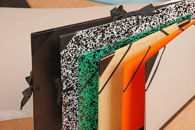 52 x 72 cm Clairefontaine 44400C Cartella Portadisegno con Elastico Bruno