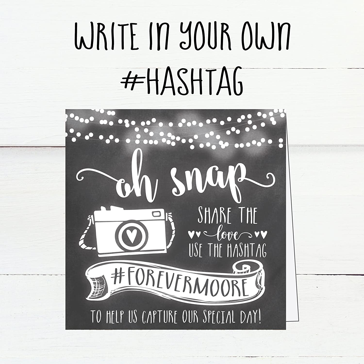 25 chalkboard wedding hashtag signs vintage chalk table top place cards or photo booth oh snap sign quotes for wedding wedding reception or ceremony