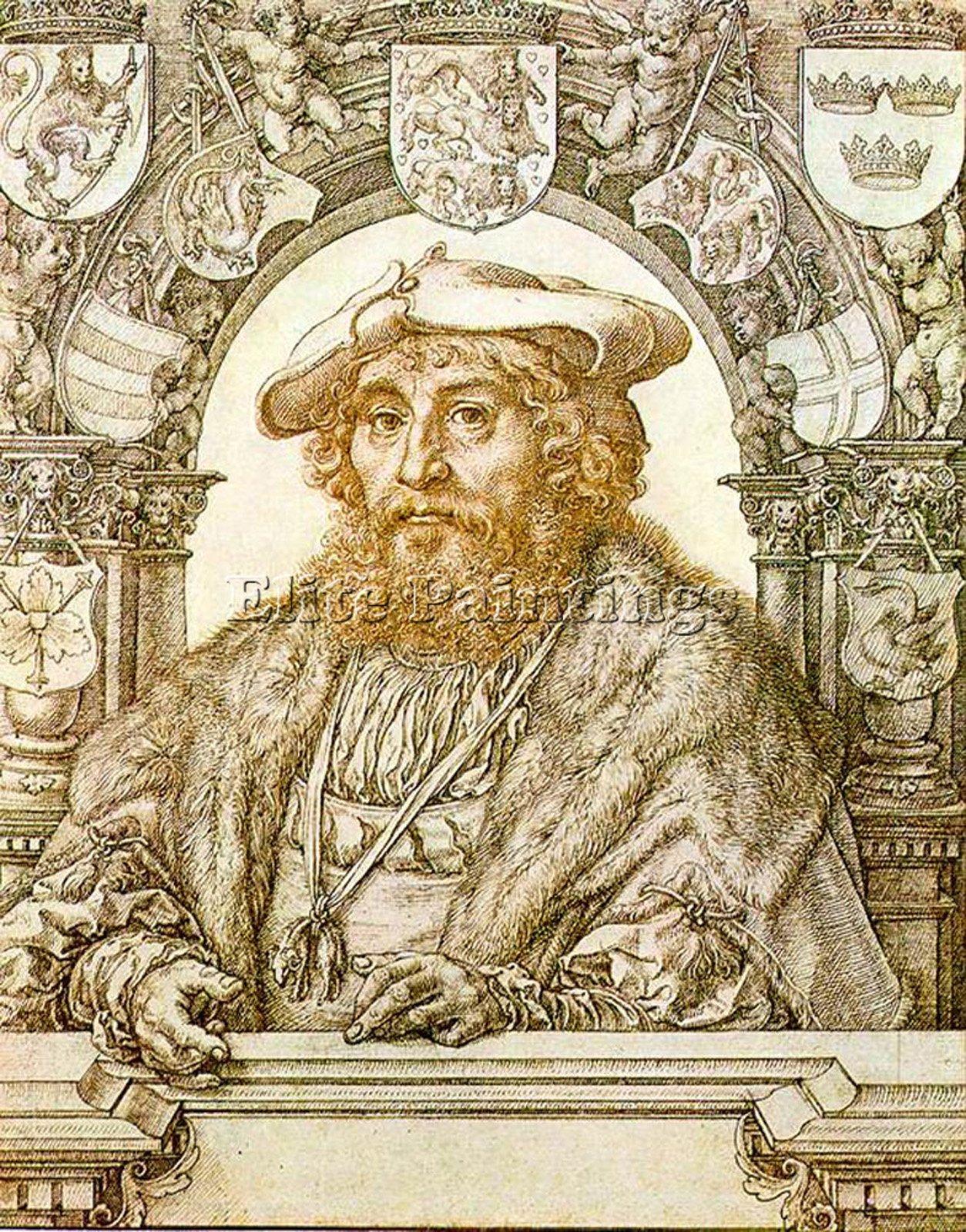 GOSSAERT JAN PORTRAIT CHRISTIAN II KING DENMARK ARTIST PAINTING OIL CANVAS REPRO 48x40inch by Elite-Paintings