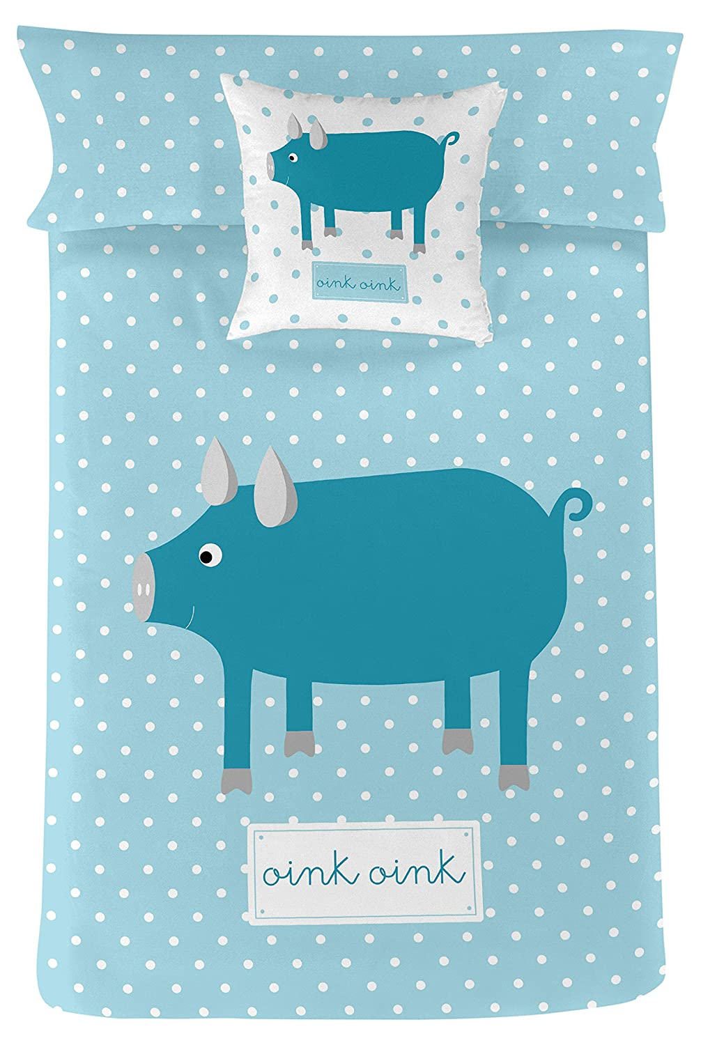 Rubio Hogar Blonde Home Game Nordic Oink 220 x 150 x 3 cm turquoise ...