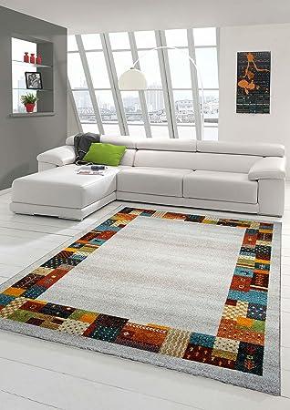 Designer Teppich Moderner Teppich Wohnzimmer Teppich mit Bordüre ...