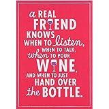 Hallmark Forever Friends New Home carte 'Congratulations'–Medium fin Pour The Wine
