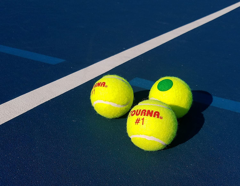 Tourna Green Dot Low Compression Tennis Balls Unique Sports Products Inc Kids-G-P-18