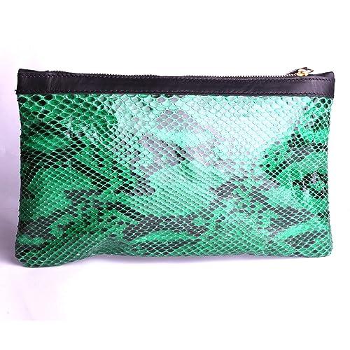 fbf6e1d118 Pochette serpent reptile véritable petit sac femme de voyage création  atelier maroquinerie artisanale By Mode France
