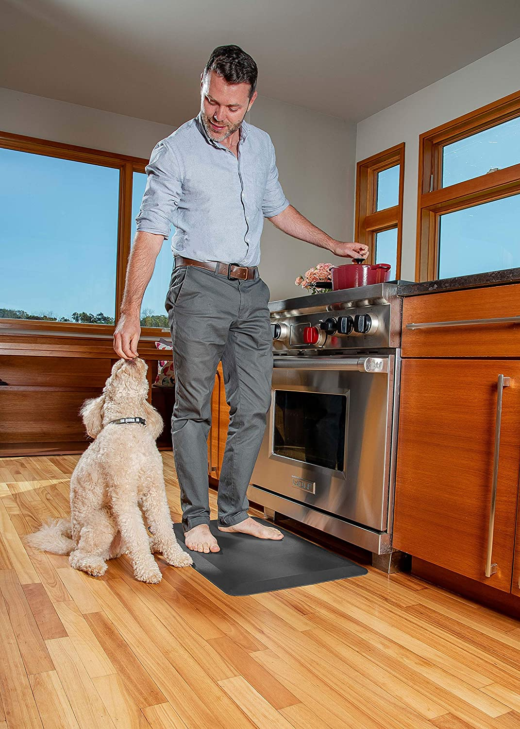 Oasis Mat Perfect for Kitchens and Standing Desks 20x32x3//4-Inch, Black 5 Colors and 3 Sizes Oasis Kitchen Mats Leather Grain Comfort Anti Fatigue Mat /& Kitchen Rug