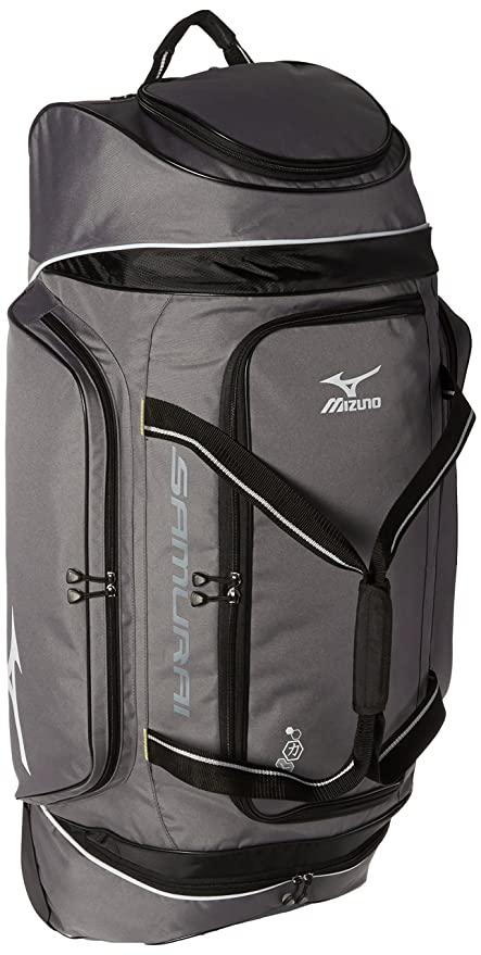 Amazoncom Mizuno Samurai Wheeled Catchers Bag Baseball Ball