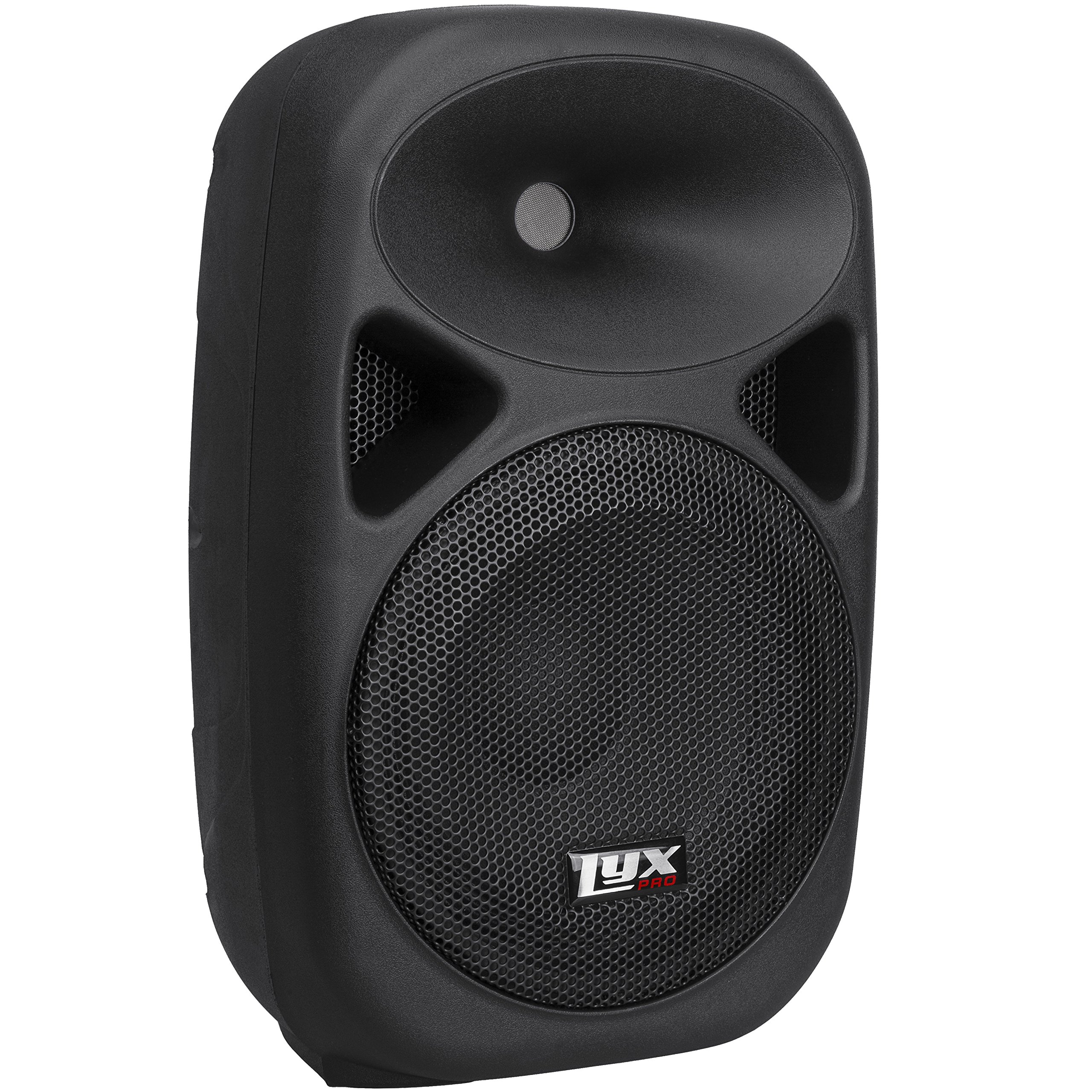 LyxPro SPA-10 - 10'' Compact Portable PA System 110-Watt RMS Power Active Speaker with Equalizer, Bluetooth, SD Slot, USB, MP3, XLR, 1/4'', 3.5mm Input
