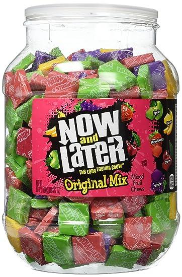 Now & Later Original Mixed Fruit Chews Assorted 60 Ounce Jar