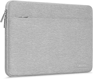MOSISO Laptop Sleeve Bag Compatible with 13-13.3 inch MacBook Pro, MacBook Air, Notebook Computer, Spill Resistant Polyester Horizontal Protective Carrying Case Cover, Gray